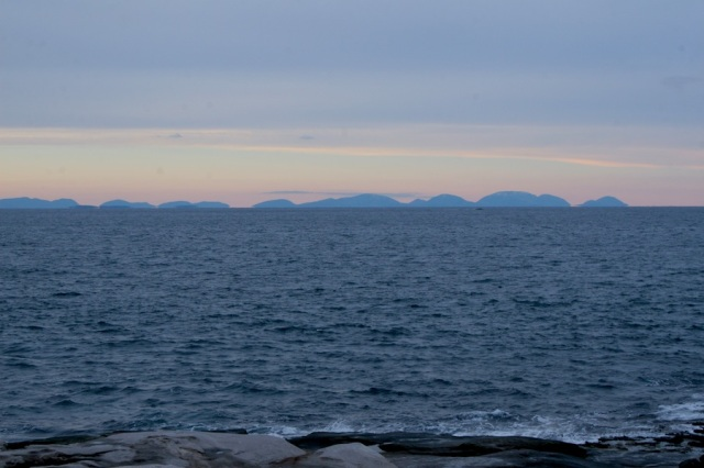 Mount Desert Island looks so blue on the horizon today- still calm seas